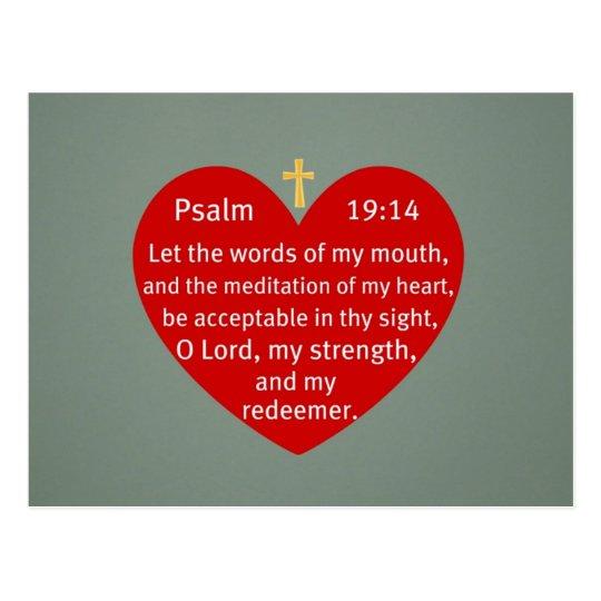 Psalm 19:14 postcard