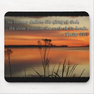 PSALM 19:1 BIBLE SCRIPTURE HEAVENS DECLARE GLORY MOUSE PAD