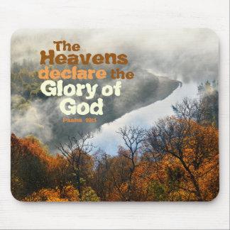 Psalm 19:1 Bible Verse Glory of God Mousepad