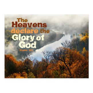 Psalm 19:1 Bible Verse Glory of God Postcard
