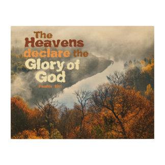 Psalm 19:1 Bible Verse Glory of God Wood Wall Art