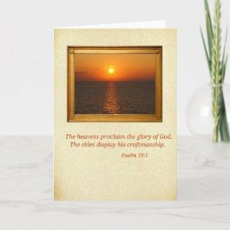 Psalm 19:1 card