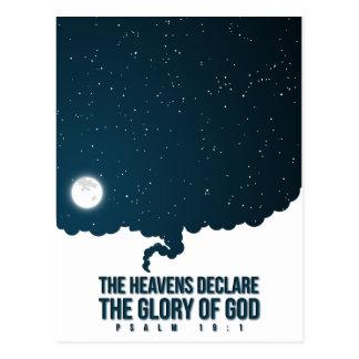 Psalm 19:1 Heavens Declare God's Glory Postcard