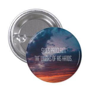 Psalm 19:1 Sunset 1 Inch Round Button
