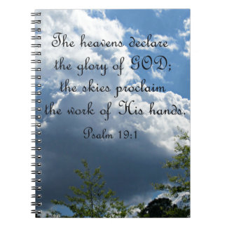 Psalm 19:1 The heavens declare the glory of God Notebook