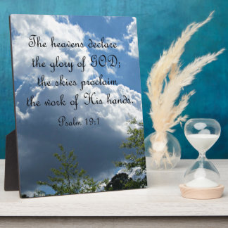 Psalm 19:1 The heavens declare the glory of God Plaque