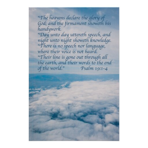 Psalm 19 poster