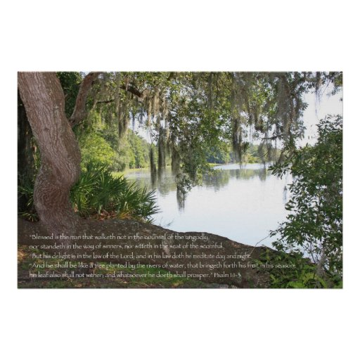 Psalm 1:1-3 Scripture Poster