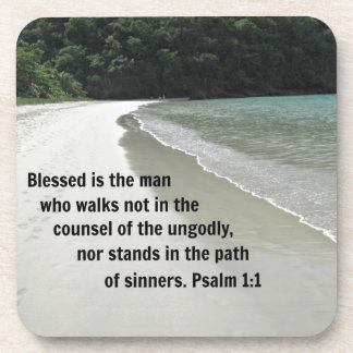 Psalm 1:1 Blessed is the man... Beverage Coaster
