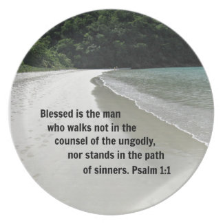Psalm 1:1 Blessed is the man... Dinner Plate