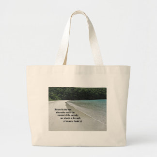 Psalm 1:1 Blessed is the man... Large Tote Bag