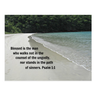 Psalm 1:1 Blessed is the man... Postcard