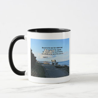 Psalm 1:1 Blessed is the man that walketh not... Mug