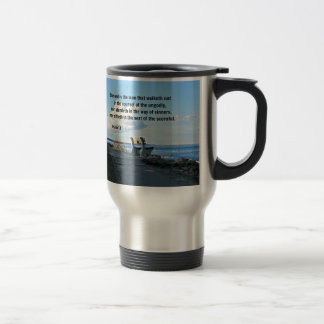Psalm 1:1 Blessed is the man that walketh not... Travel Mug