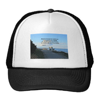 Psalm 1:1 Blessed is the man that walketh not... Trucker Hat