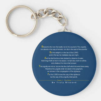 Psalm 1 - A quotation of Psalm 1 from the Bible Keychain