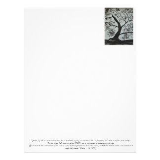 Psalm 1 Blessed is the Man Letterhead