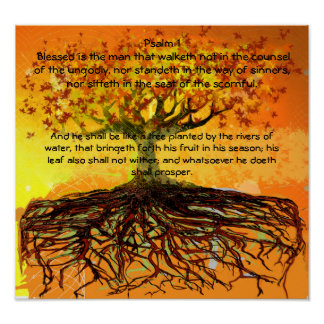 Psalm 1 Blessed Is The ManThat  Walketh Poster