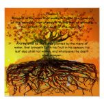 Psalm 1 Blessed Is The ManThat  Walketh Print