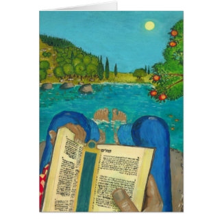 Psalm 1 in Bible - Psalm 1 in Hebrew Bible Greeting Card