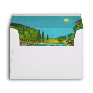 Psalm 1 in Hebrew Bible Jewish Christian Paintings Envelope