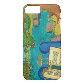 Psalm 1 in Hebrew Bible Jewish Christian Paintings iPhone 8/7 Case