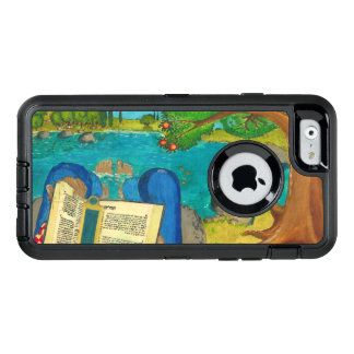 Psalm 1 in Hebrew Bible Jewish Christian Paintings OtterBox Defender iPhone Case