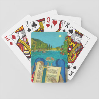 Psalm 1 in Hebrew Bible Jewish Christian Paintings Playing Cards