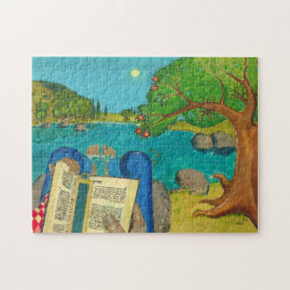 Psalm 1 in Hebrew Bible Jewish Christian Paintings Puzzle