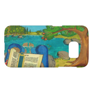 Psalm 1 in Hebrew Bible Jewish Christian Paintings Samsung Galaxy S7 Case