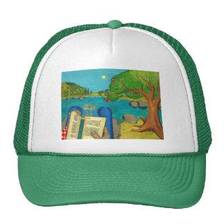 Psalm 1 - Man reads Psalm 1 in Hebrew Bible Trucker Hat