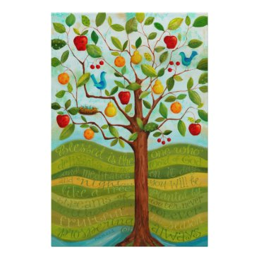 KarlaDornacher Psalm 1 Tree Planted by Rivers of Water Print