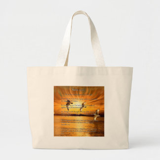 Psalm 23:1-6 The Lord Is My Shepard Large Tote Bag