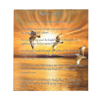 Psalm 23:1-6 The Lord Is My Shepard Memo Note Pads