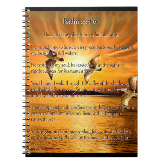 Psalm 23:1-6 The Lord Is My Shepard Notebooks