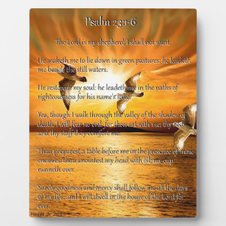 Psalm 23:1-6 The Lord Is My Shepard Plaque