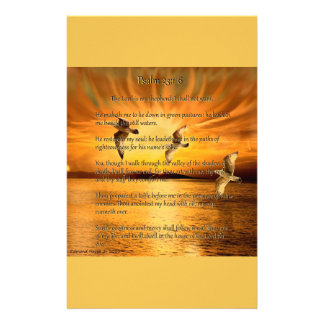 Psalm 23:1-6 The Lord Is My Shepard Stationery
