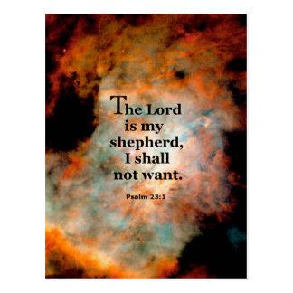 Psalm 23.1 post card