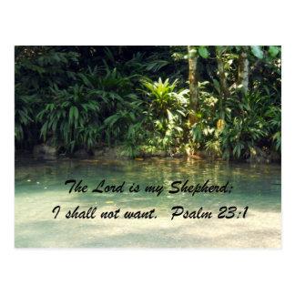 Psalm 23:1 postcard