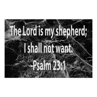 Psalm 23:1 poster