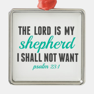 Psalm 23:1 The Lord Is My Shepherd Metal Ornament