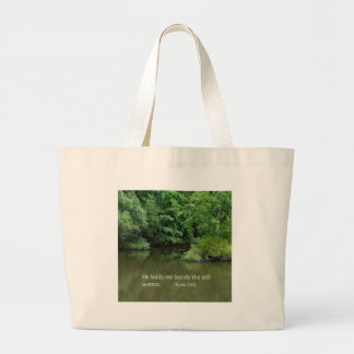 Psalm 23:2 He leads me beside the still waters Bags