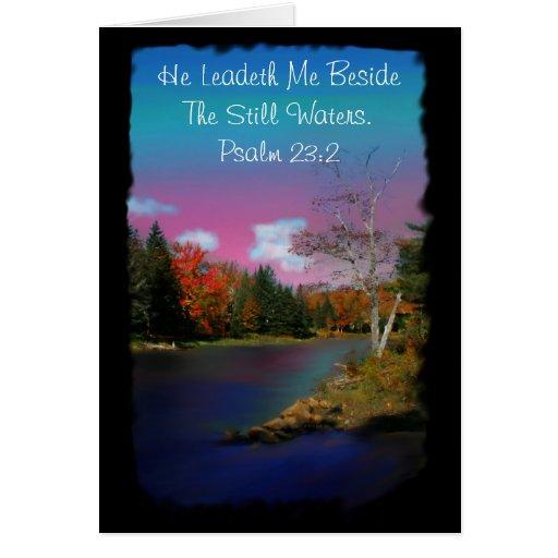 Psalm 23:2 Inspirational Greeting Card