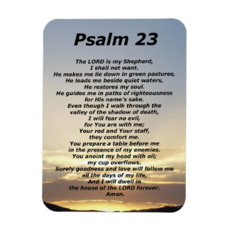 Psalm 23 (3) magnet