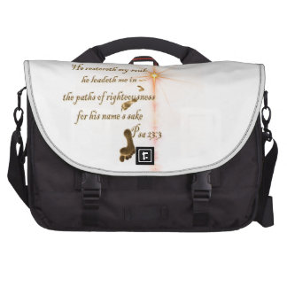 Psalm 23.3 The Lord is my Shepard Laptop Commuter Bag