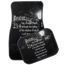Psalm 23:4  Bible Verse Custom Christian Gift Car Floor Mat