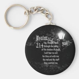 Psalm 23:4  Bible Verse Custom Christian Gift Keychain