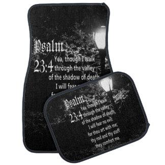 Psalm 23:4  Bible Verse Custom Christian Gift Car Mat