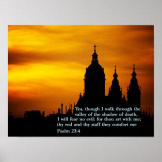 Psalm 23:4 Church Poster
