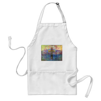 Psalm 23:4 - Even though I walk through... Adult Apron